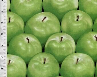 "Kanvas ""Apple Baskets"" Yummy Juicy Green Apples Allover Fabric"