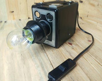 Upcycled Vintage Kodak Brownie Camera Lamp