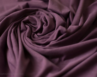Purple jersey knit newborn wrap - soft, stretchy jersey wrap