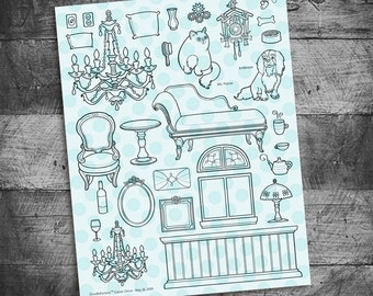 Classic Decor Furniture Rubber Stamps