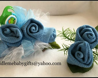 Baby shower Baby Sock Corsage Baby Shower Baby Sock Corsage and Boutonniere
