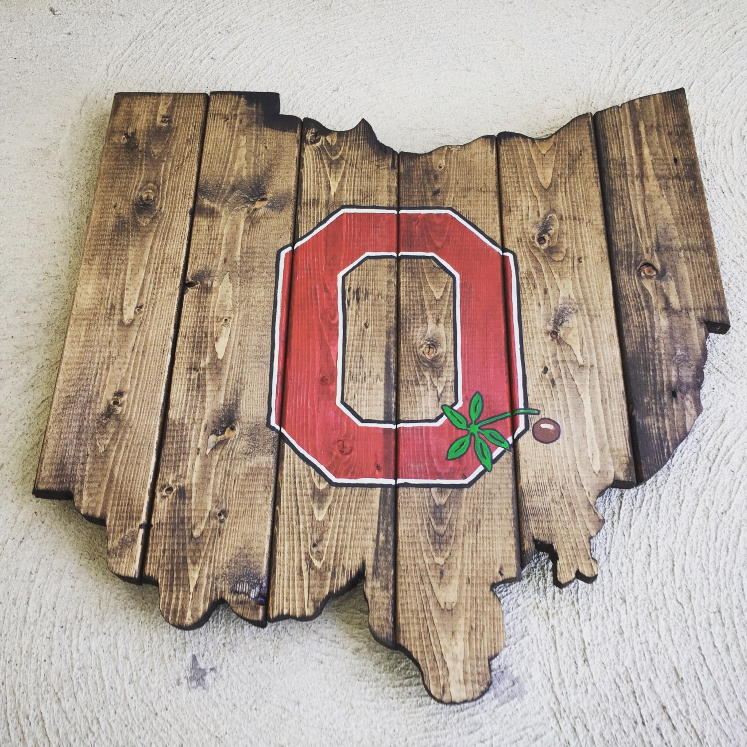 Super rad reclaimed upcycled ohio state buckeyes rustic wood zoom amipublicfo Image collections