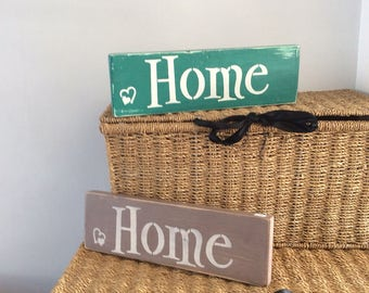 Shabby Chic wooden chunky shelf plaque...HOME