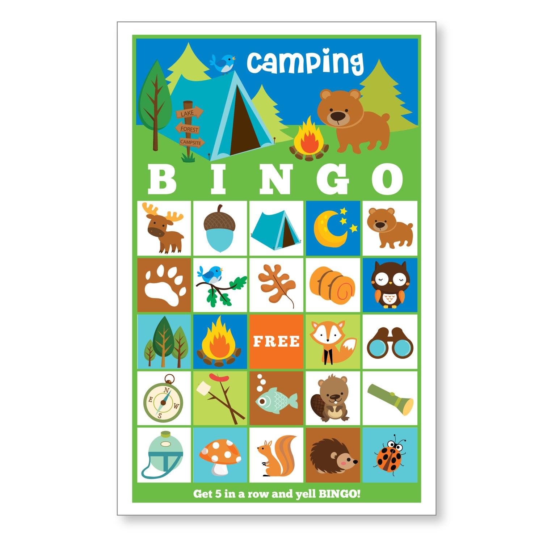 Camping BINGO Game