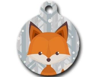 Winter Fox - dog, cat, pet ID TAG