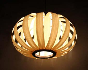 Thin Wooden Paper Pendant Lights-Decorative Lighting-Creative lighting Fixtures-Decorative Lamps- 110-240 V/50-60Hz