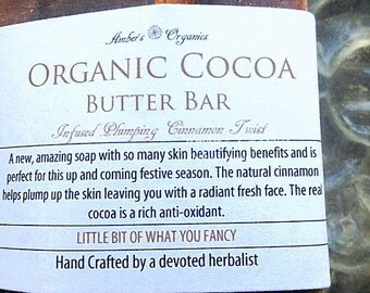 Organic Cocoa Butter Bar & Plumping Cinnamon Twist.