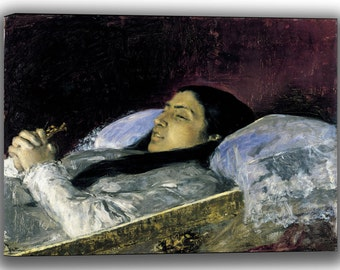 Mariano Fortuny: Miss Del Castillo on her Deathbed. Fine Art Canvas. (04015)