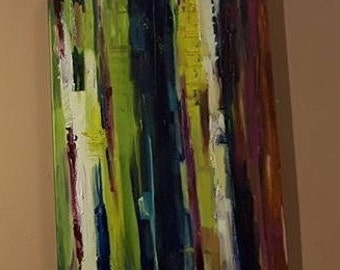 Spring Abstract Oil Painting