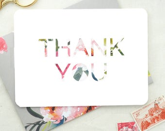 Thank You Notes. Blank Cards. Wedding Shower Thank You Cards. Floral Watercolor Cards. Floral Wedding Thank You Cards. Thank You Cards.