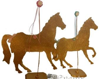 Glitter Carousel Horse Centerpiece