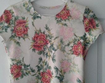 Blouse T-Shirt Top Tee Flowers
