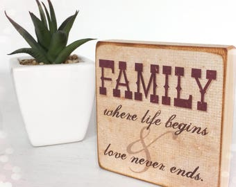 Rustic Family Plaque...