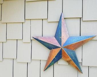 Five Point Star made from Reclaimed Wood (Fir Decking)