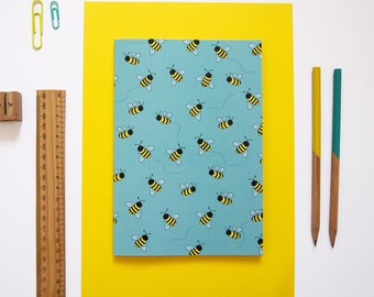 A5 Notebook / Bee Notebook / Back to School / Cute Stationery / Exercise Book / Cute Notebook
