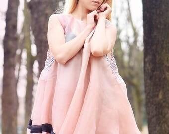 """Flower Organza Summer Dress - """"Virgin"""""""