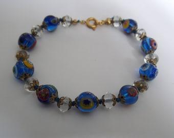 murano Venetian glass beads bracelet