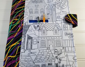 COLOR ME! Fabric Spiral Notebook Cover with Pencil Pocket - Sewing Village