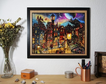 Amsterdam Night (print)