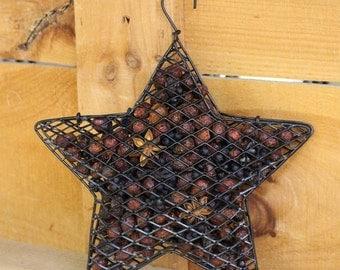 Wild Blueberry Hanging Mesh Star