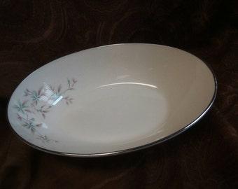 1950's Wyndcrest by Lenox silver trimmed Vegetable Serving Bowl