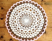RESERVED for Diane:  4 Hand Crochet Cotton Doily Placemats