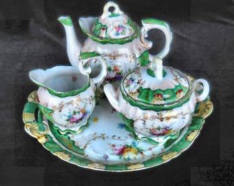 Nippon Hand Painted Porcelain Tea Set Vintage Nippon by Dow Sie