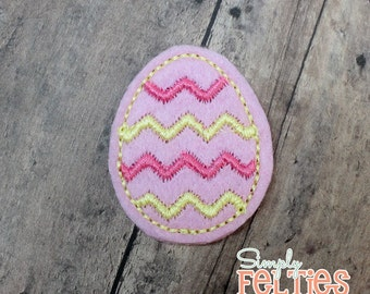 Easter Egg Felties--Pink and Yellow--Set of 4