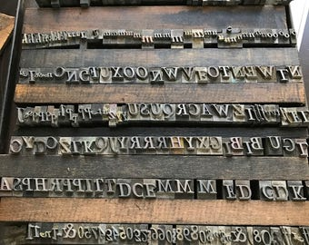 Uppercase Lead Letterpress Printers Letters