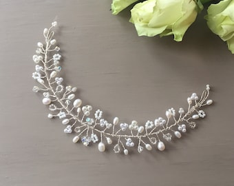 Wedding Hair Accessory, FREE SHIPPING!Bridal Hair Adornment, Pearl, Crystal, Hair Vine, Headdress, Hairpiece