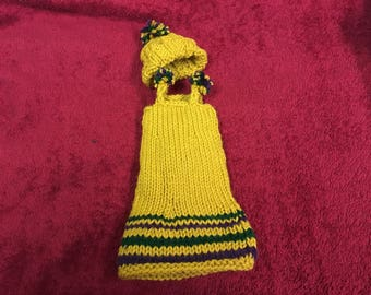 "13"" inch doll dress with matching hat"