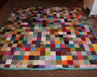 Scrappy Patchwork Quilt - King Size Quilt