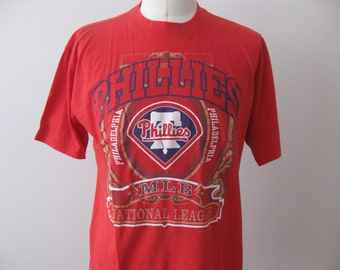 Vintage Philadelphia Phillies t-shirt shirt 90s Adult XL Soft