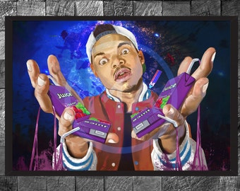 Chance the Rapper Hip Hop GLOSSY Art photo print Rapper Illustration