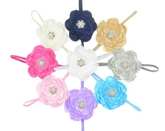 Fashion Beauty Chiffon Flower with Rhinestone Headband for Children/Girl  -- YTK52