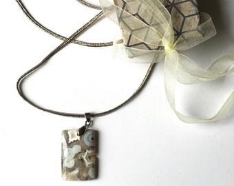 Collier textile etsy - Cadeau symbolique 30 ans ...