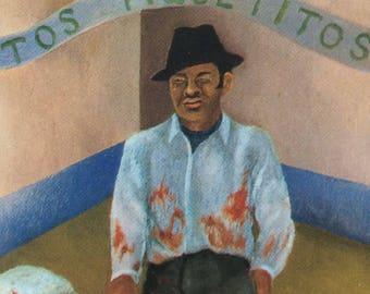 Frida Kahlo-Frida-Art-Vintage Postcard-Surrealism-Mexico-Diego Rivera-A Few Little Pricks-Home decor