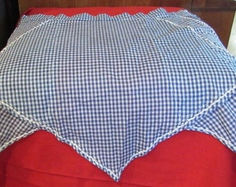 Vintage Home-made Blue checked Apron