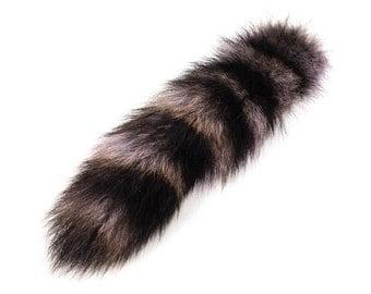 "Large Tinted Raccoon Tail 10""-12"""