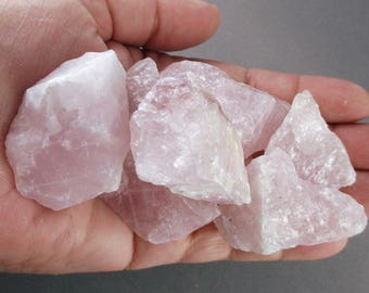 3 Raw Rose Quartz Crystals - Healing Crystals and Stones, Energy Healing, Pink Rose Quartz, Love & Family Crystal, Healing Stone (T091)
