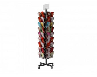 Fixture Displays® Display, Spinning Greeting Post Birthday Christmas Holiday Card Display Rack Stand 11705