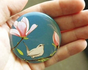 Magnolia & wren pocket mirror