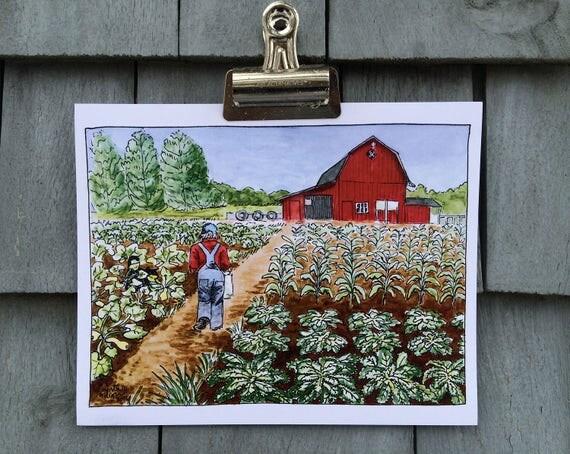 Farmer's Garden Print, 8 x 10 inches