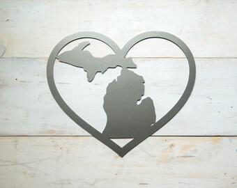 Michigan Heart Steel Art