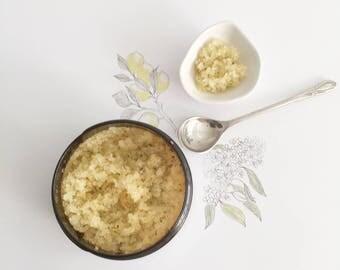 HAND SCRUB Citrus ~ O r g a n i c ~Epsom & Sea Salts, Lemon and Orange Powder, Calendula and Chamomile Flowers | VEGAN |