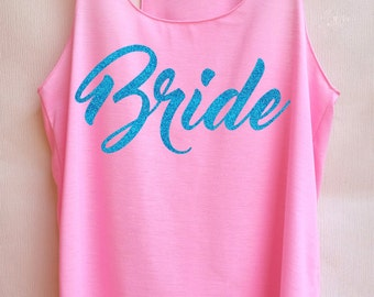 Glitter Bride -Racer back,Bridal shirt,Bridal tank top,Bride shirt,Team bride tank top,Bachelorette Party Tank Top,Wedding Shirt,Bride tribe