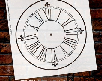 Victoria Station Clock Stencil - Select Size - by StudioR12