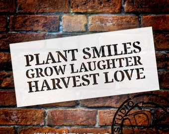 Plant Grow Harvest - Word Stencil - Select Size - STCL1845 - by StudioR12