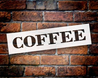 Coffee - Farmhouse Serif - Word Stencil - Select Size - STCL1965 - by StudioR12