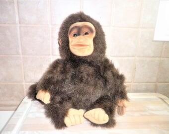 Vintage Hosung plush monkey puppet